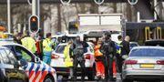 Polisavspärrningar vid 24 Oktoberplatsen i Utrecht. ROBIN VAN LONKHUIJSEN / ANP