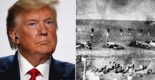 Donald Trump/Bild på dödade armenier i Osmanska riket 1915. TT