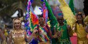 Illustrationsbild från Pride-paraden på Copacabana i Rio de Janeiro, 15 november 2015.  Leo Correa / TT / NTB Scanpix