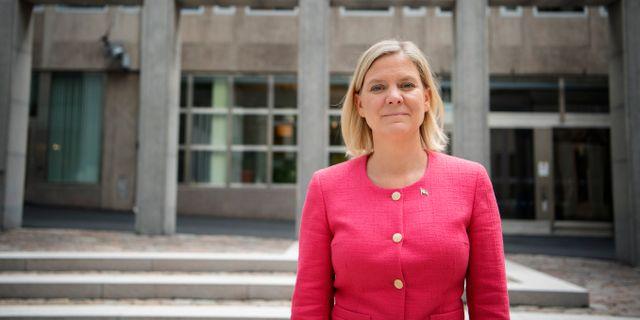 Magdalena Andersson (S).  Jessica Gow/TT / TT NYHETSBYRÅN