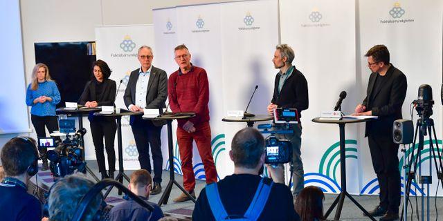 Presskonferens med Folkhälsomyndigheten.  Jonas Ekströmer/TT / TT NYHETSBYRÅN