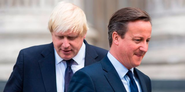 Boris Johnson och David Cameron. JACK TAYLOR / AFP