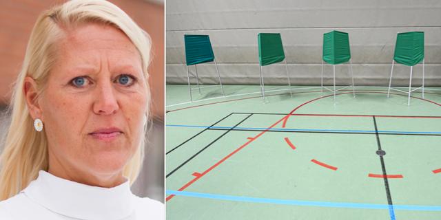 Anna Nyqvist/vallokal idag. TT/Valmyndigheten