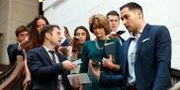 Senatorer anländer för att titta på FBI:s rapport om Brett Kavanaugh.  Alex Brandon / TT NYHETSBYRÅN