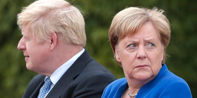 Boris Johnson och Angela Merkel. Arkivbild. Michael Sohn / TT NYHETSBYRÅN