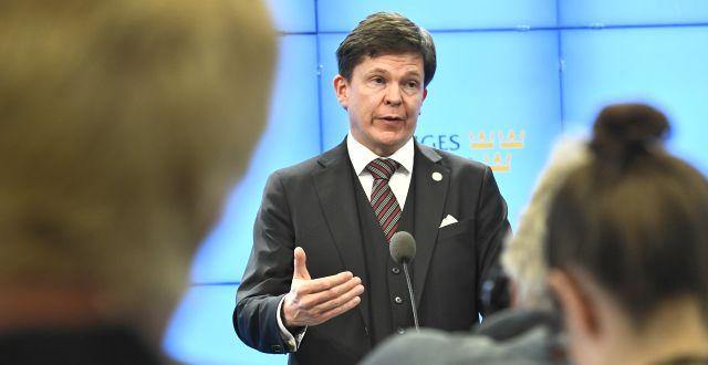 Talmannen Andreas Norlén.  Claudio Bresciani/TT / TT NYHETSBYRÅN