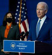 Joe Biden och Kamala Harris.  Carolyn Kaster / TT NYHETSBYRÅN
