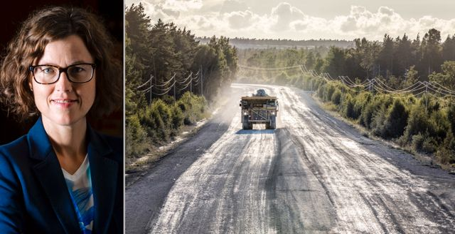 Malin Löfsjögård, vägen från Cementas kalkbrott i Slite vid File Hajdar.  Pressbild Svensk Betong/ Karl Melander, TT Nyhetsbyrån