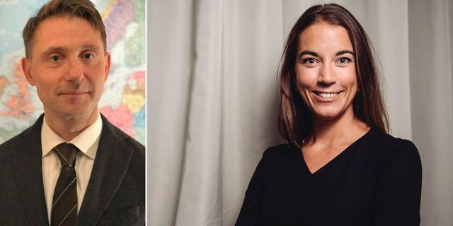Swedbanks prognoschef Andreas Wallström och Avanzas sparekonom Johanna Kull Swedbank och TT