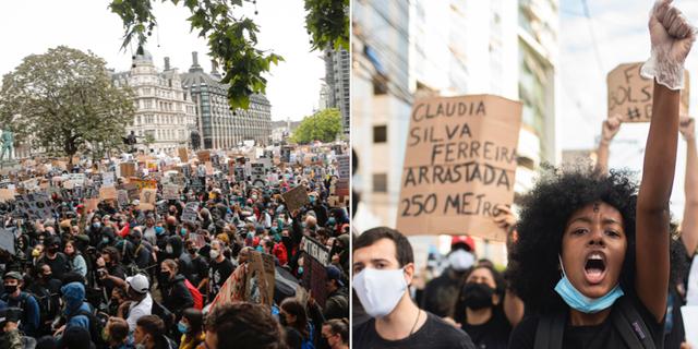 Bilder från Storbritannien och Brasilien.