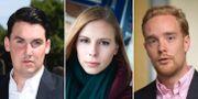 Hanna Wagenius (C), Joar Forssell (L), Anders Schröder (MP) är några av de riksdagskandidater som finns med på Cannabiskryssets lista.  TT