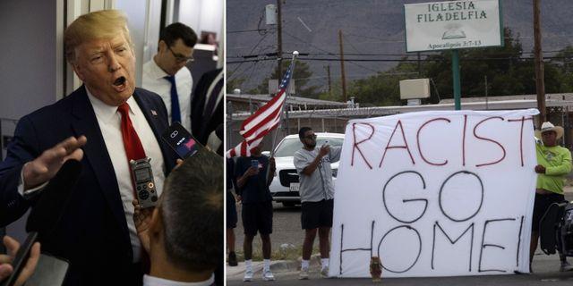 Bilder från El Paso.  TT.