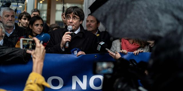 Carles Puigdemont.  KENZO TRIBOUILLARD / AFP