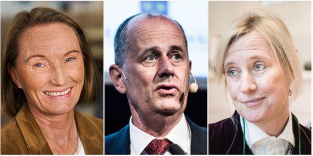 Katarina Thorslund, Peter Norman och Ingrid Bonde. TT