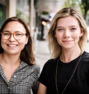 Amalia Rud Pedersen och Lisa Nåbo.  Erik Simander/TT / TT NYHETSBYRÅN