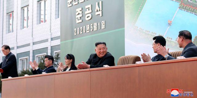Kim Jong-Un den 1 maj. ????? / TT NYHETSBYRÅN