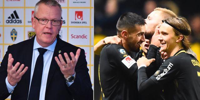 Janne Andersson och Kristoffer Olsson.  TT.