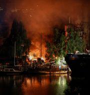 Branden i Liljeholmen. Christine Olsson/TT / TT NYHETSBYRÅN