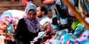 Kvinna i New Delhi.  MONEY SHARMA / AFP