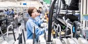 Bild från Ericsson-fabriken Nanjing Ericsson Panda Communications Co.  Magnus Hjalmarson Neideman/SvD/TT / TT NYHETSBYRÅN
