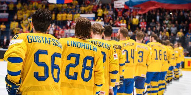 Sverige radar upp sig efter förlusten. JOEL MARKLUND / BILDBYRÅN