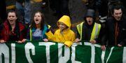 Greta Thunberg under en klimatdemonstration i Bristol förra veckan. Matt Dunham / TT NYHETSBYRÅN