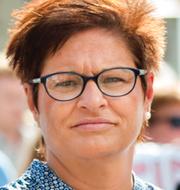 Vårdförbundets ordförande Sineva Ribeiro/covidvård i Södertälje. TT