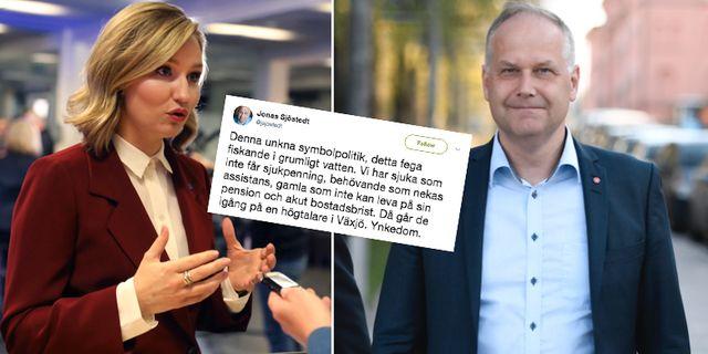 Ebba Busch Thor och Jonas Sjöstedt. TT