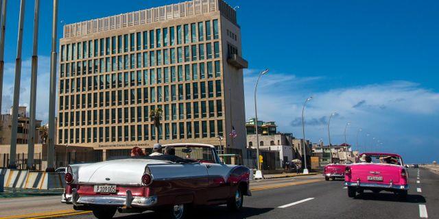 USA:s ambassad i Havanna.  Desmond Boylan / TT NYHETSBYRÅN