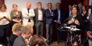 TCO-ordförande Eva Nordmark under en pressträff på Scandic Grand Central i Stockholm Jessica Gow/TT / TT NYHETSBYRÅN