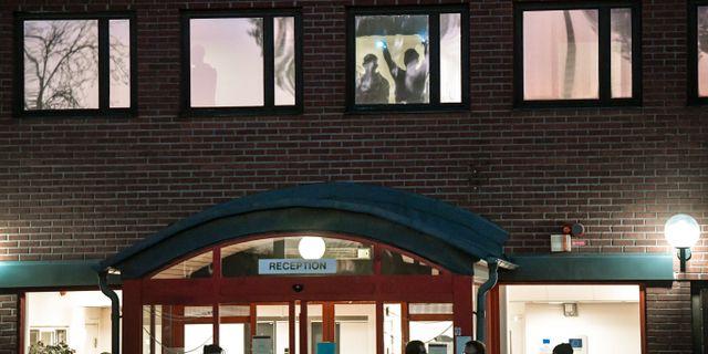 Migrationsverkets förvar i Märsta där de 50 personerna väntade på utvisning till Afghanistan. Anders Wiklund/TT / TT NYHETSBYRÅN