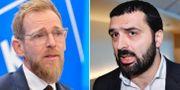 Jakob Forssmed (KD) och Ali Esbati (V). TT