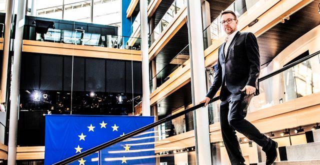 EU-parlamentarikern Fredrick Federley i parlamentet i Strasbourg. Arkivbild.  Tomas Oneborg/SvD/TT / TT NYHETSBYRÅN
