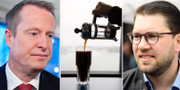 Anders Ygeman (S)/Kaffe/Jimmie Åkesson (SD). TT