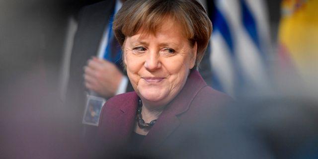 Tysklands förbundskansler Angela Merkel var en av de drabbade. Men inga känsliga uppgifter spreds om henne. Geert Vanden Wijngaert / TT NYHETSBYRÅN/ NTB Scanpix
