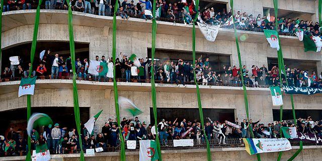Demonstrationer i Alger idag. RYAD KRAMDI / AFP