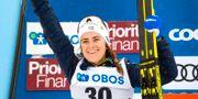 Ebba Andersson under världscupen i Falun.  ULF PALM / TT / TT NYHETSBYRÅN