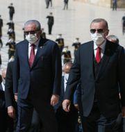 President Erdogan under ceremoni för Ataturk.  TT NYHETSBYRÅN