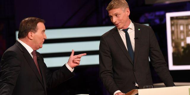 Statsminister Stefan Löfven (S) och finansmarknadsminister Per Bolund (MP). Fredrik Sandberg/TT / TT NYHETSBYRÅN