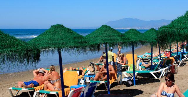 En strand i Malaga.  Tina Remius Strömberg/TT / TT NYHETSBYRÅN