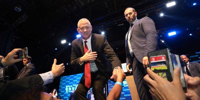 Benny Gantz, ledare av partiet Blåvita alliansen. GALI TIBBON / AFP