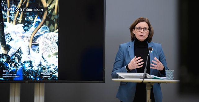 Klimatminister Isabella Lövin.  Janerik Henriksson/TT / TT NYHETSBYRÅN