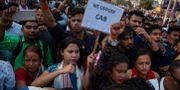Demonstranter protesterar mot den nya lagen Anupam Nath / TT NYHETSBYRÅN