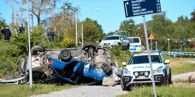 Polisjakt efter ranare i stockholm