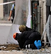 Bild utanför skattemyndigheten i Danmark. Arkivbild. PHILIP DAVALI / Ritzau Scanpix TT/Ritzau Scanpix