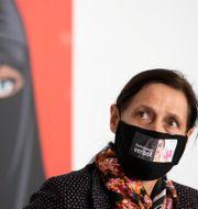 Politikerns Monika Ruegsegger-Hurschler som kampanjat för Ja-sidan. Peter Klaunzer / TT NYHETSBYRÅN