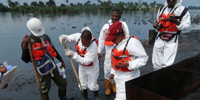 Efter Shells oljekatastrof i Nigeria. RON BOUSSO / TT NYHETSBYRÅN