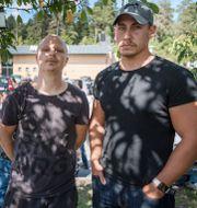 Minnesplatsen/lärarna Jimmie Bergfors (t.v.) och Toby Brett (t.h.). TT