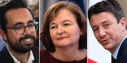 Mounir Mahjoubi, Nathalie Loiseau och Benjamin Griveaux. TT