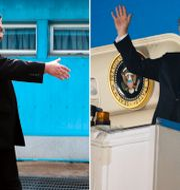 Kim Jong-Un och Donald Trump. Montage. TT.